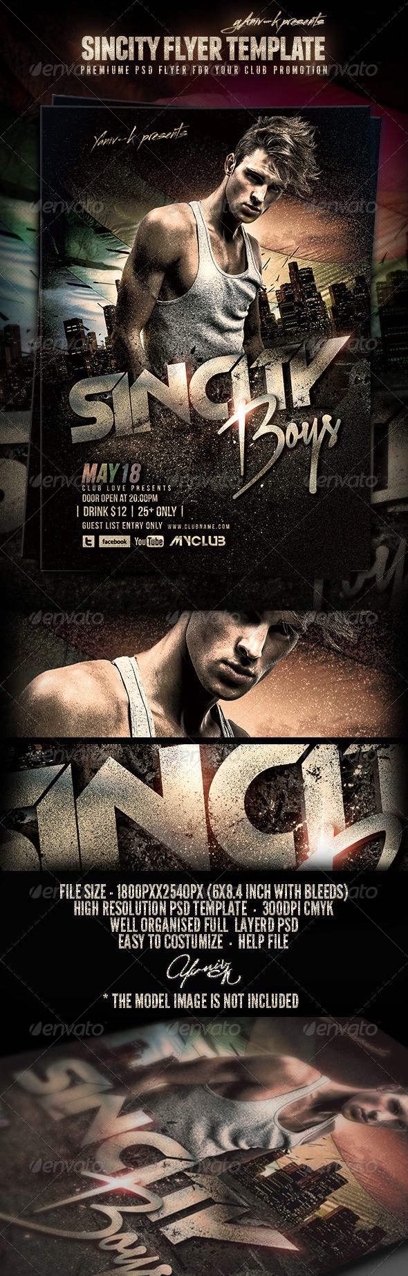 SinCity Flyer Template - Flyers Print Templates