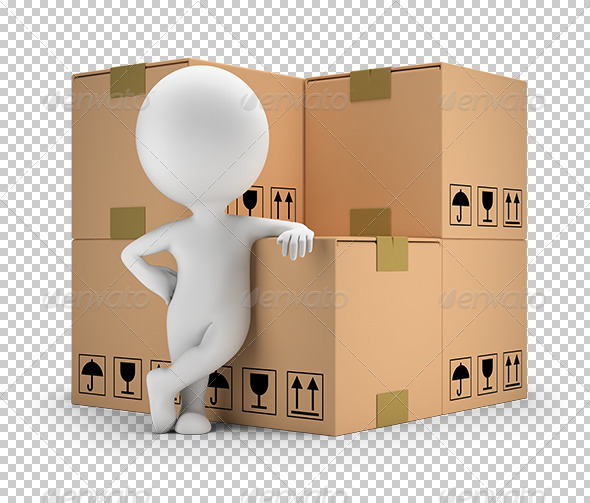 3D Small People - Delivery of Goods - Characters 3D Renders