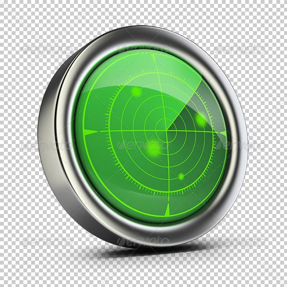 Radar - Objects 3D Renders