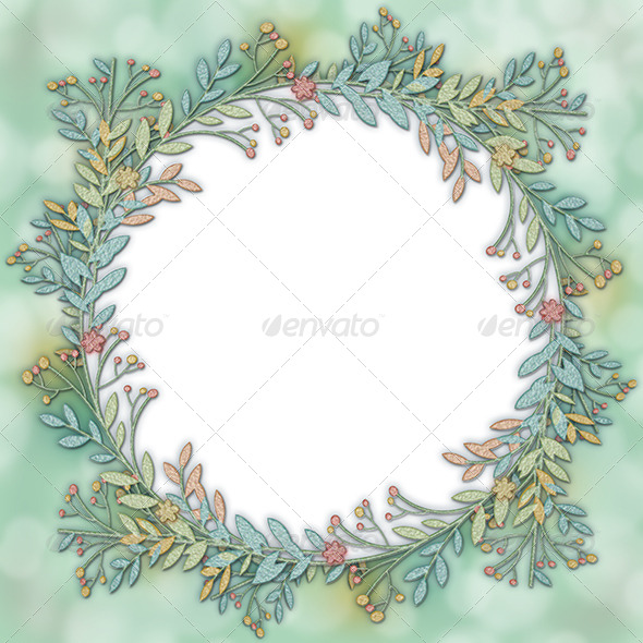 Wreath Frame Background - Backgrounds Graphics