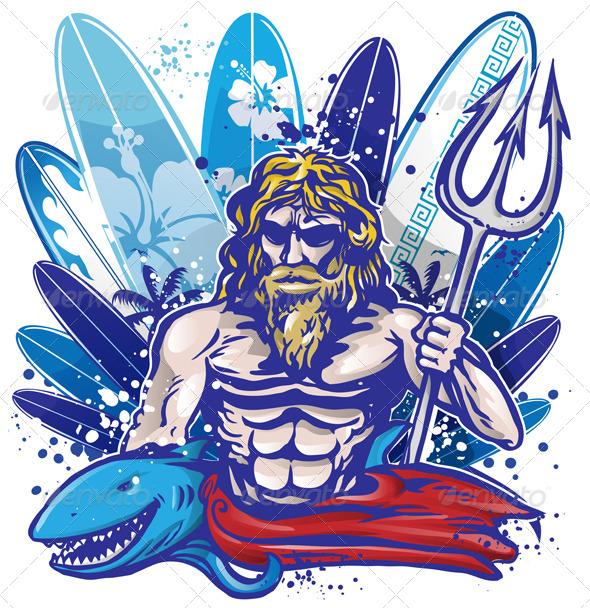 Poseidon Surfer  - Sports/Activity Conceptual