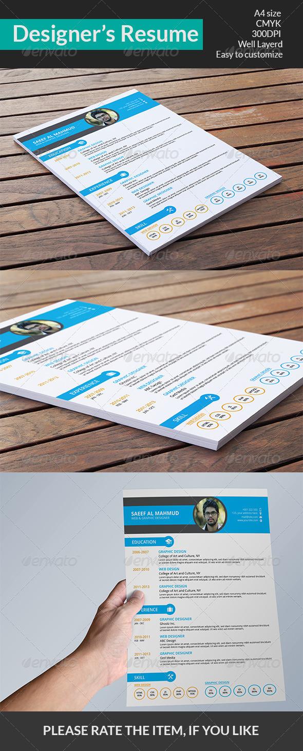 Designer's Resume - Resumes Stationery