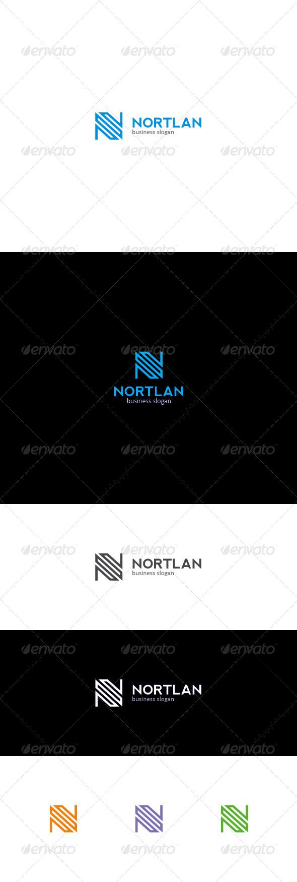 N Letter Logo | NORTLAN - Letters Logo Templates