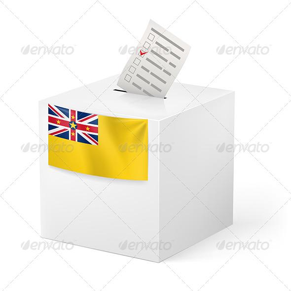 Ballot Box with Voting Paper - Miscellaneous Vectors