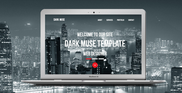 Dark Muse - One Page Parallax Template - Creative Muse Templates