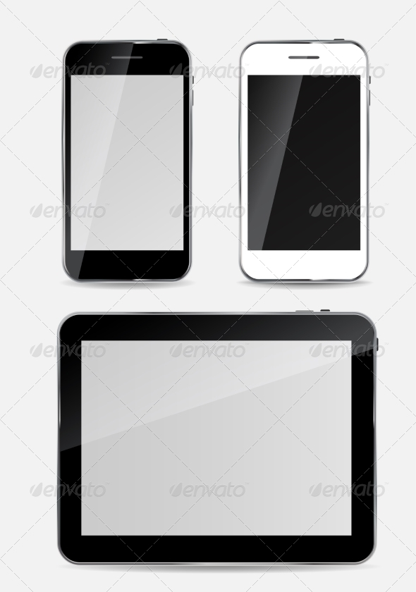 Abstract Design Mobile Phone and Tablet PC - Computers Technology