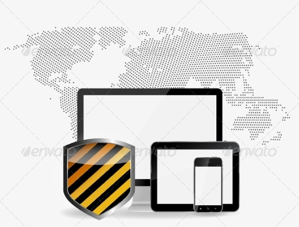 Internet Security Icon Vector Illustration - Computers Technology