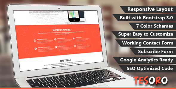 Tesoro – Super Simple Landing Page