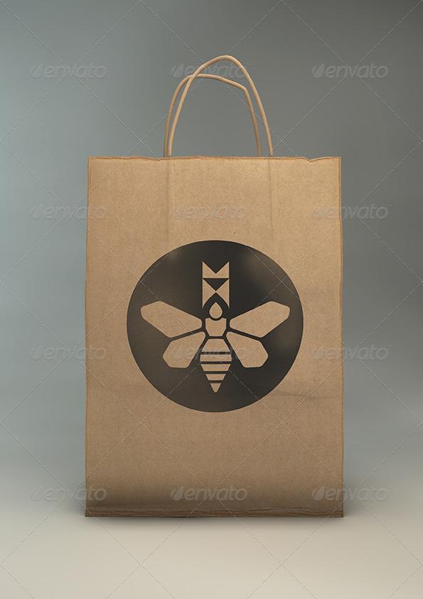 paper gift bag mock