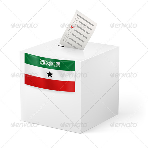 Ballot Box with Voting Paper Somaliland - Miscellaneous Vectors