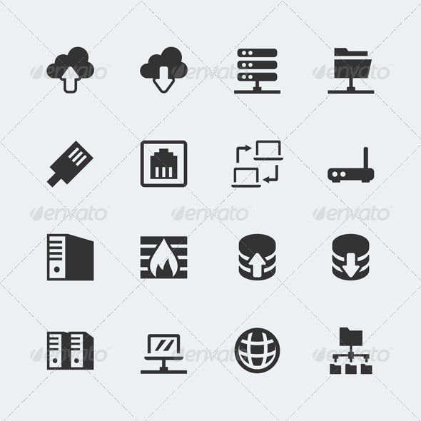 Network icons - Computers Technology