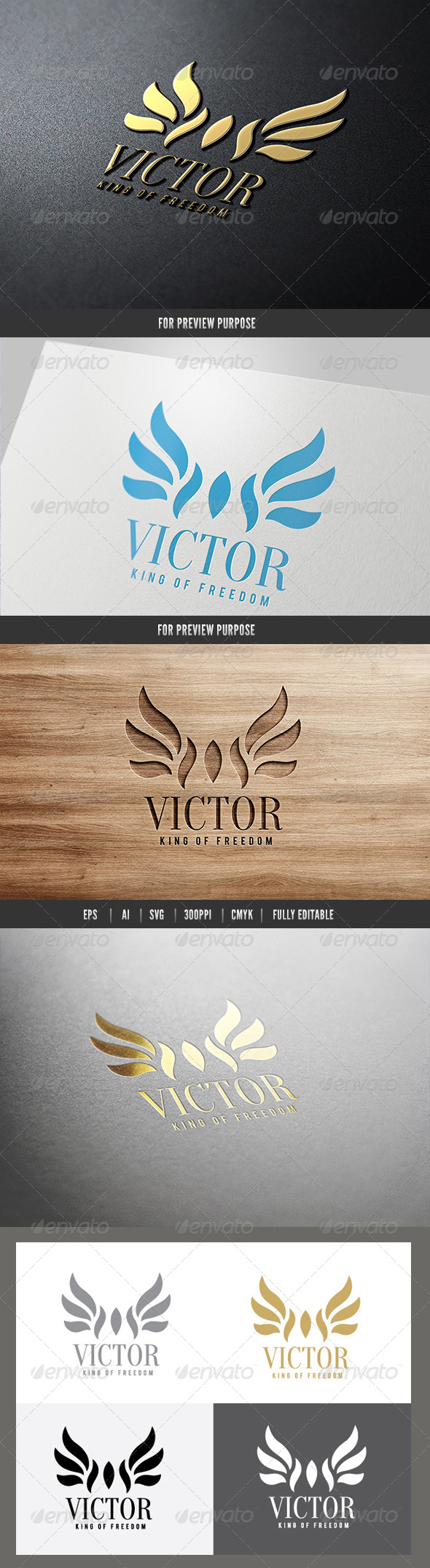 Victor King of Freedom Logo - Crests Logo Templates