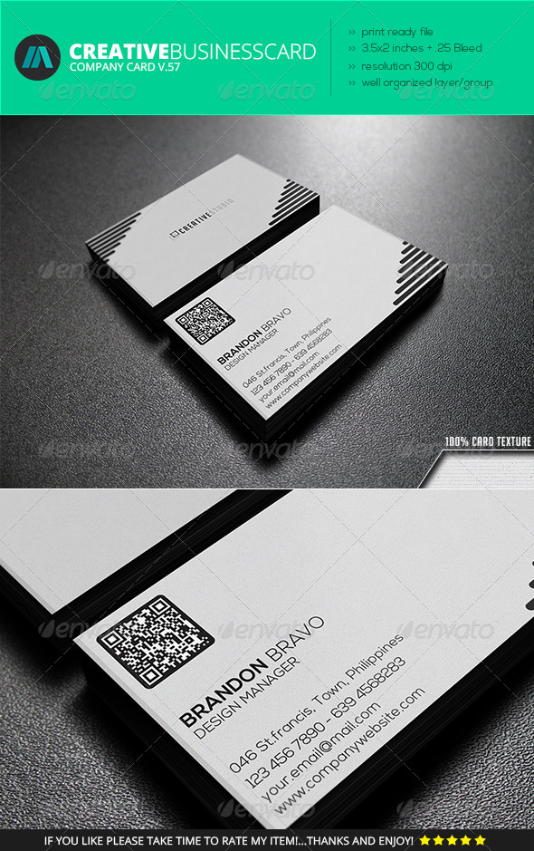 IntenseArtisan Business Card Vol.57 - Corporate Business Cards