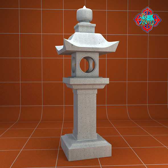 Stone lamp A - 3DOcean Item for Sale