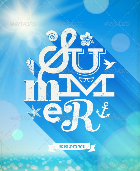 Summer Type Greeting - Travel Conceptual