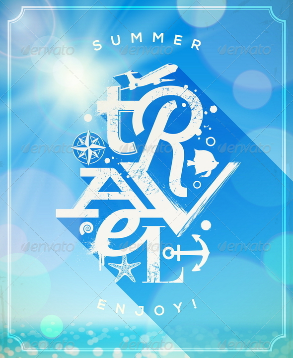 Summer Travel Lettering Design - Travel Conceptual