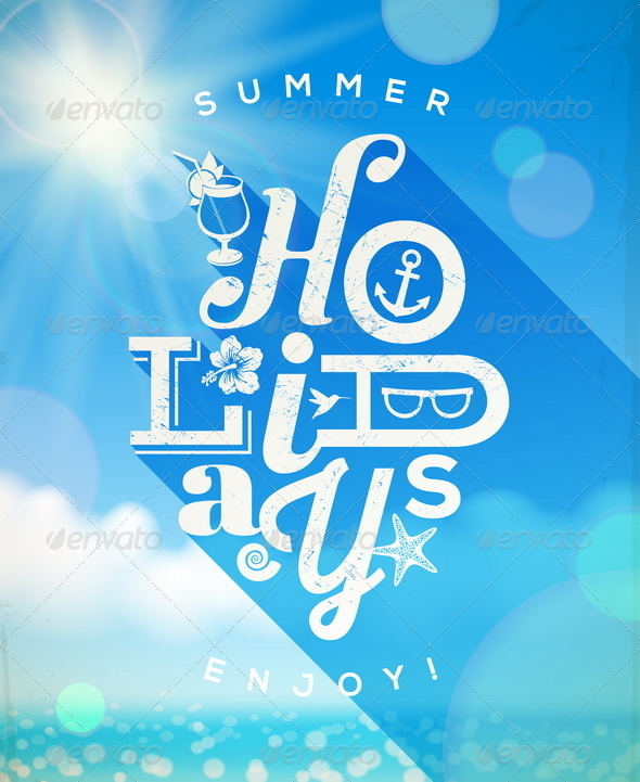 Summer Holidays Type Design - Travel Conceptual