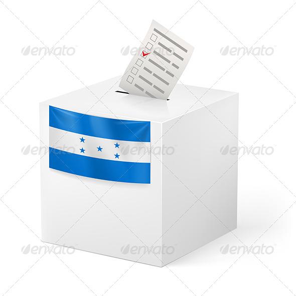 Ballot Box with Voting Paper Honduras - Miscellaneous Vectors