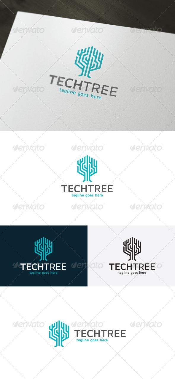 Tech Tree Logo - Vector Abstract