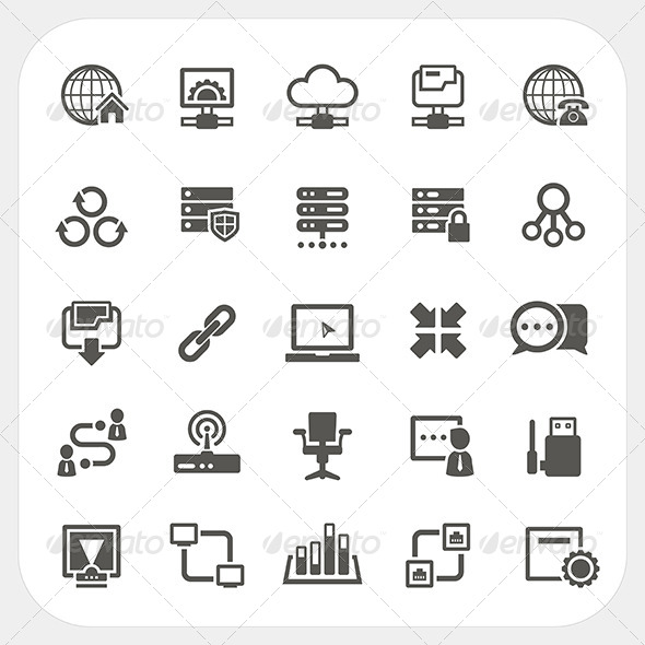 Network Icons Set - Technology Conceptual