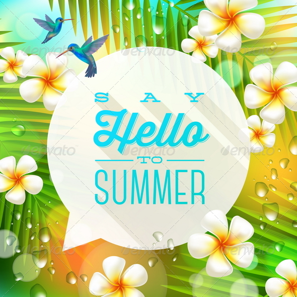 Speech Bubble with Summer Greeting - Nature Conceptual