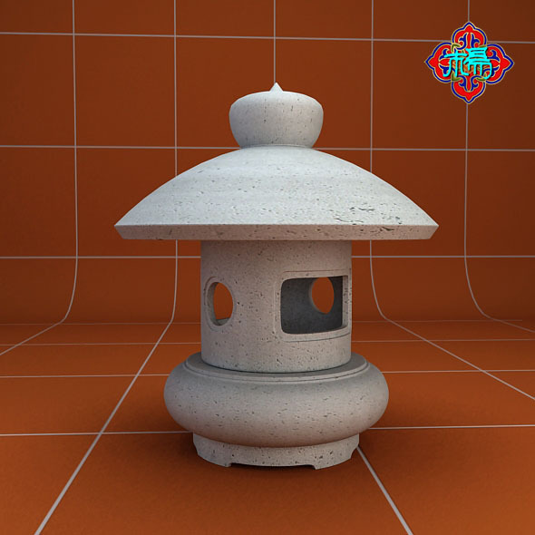 Stone lamp C - 3DOcean Item for Sale