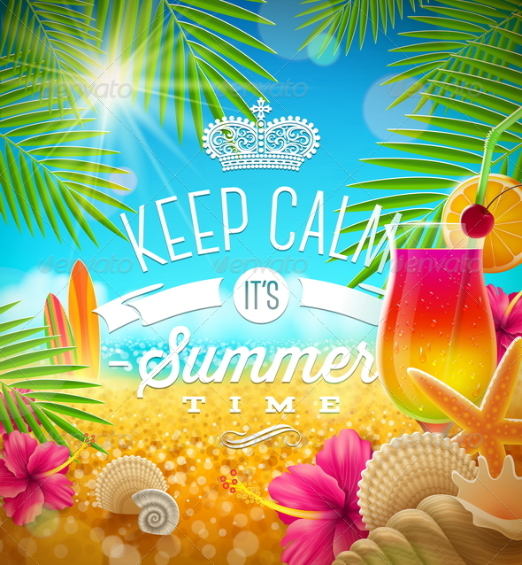 Summer Tropical Holidays Design - Travel Conceptual