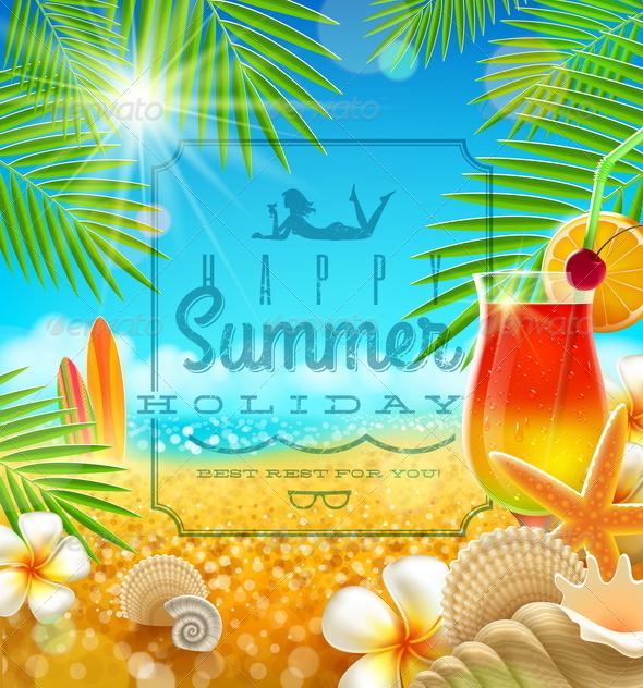 Tropical Vacation Design - Travel Conceptual