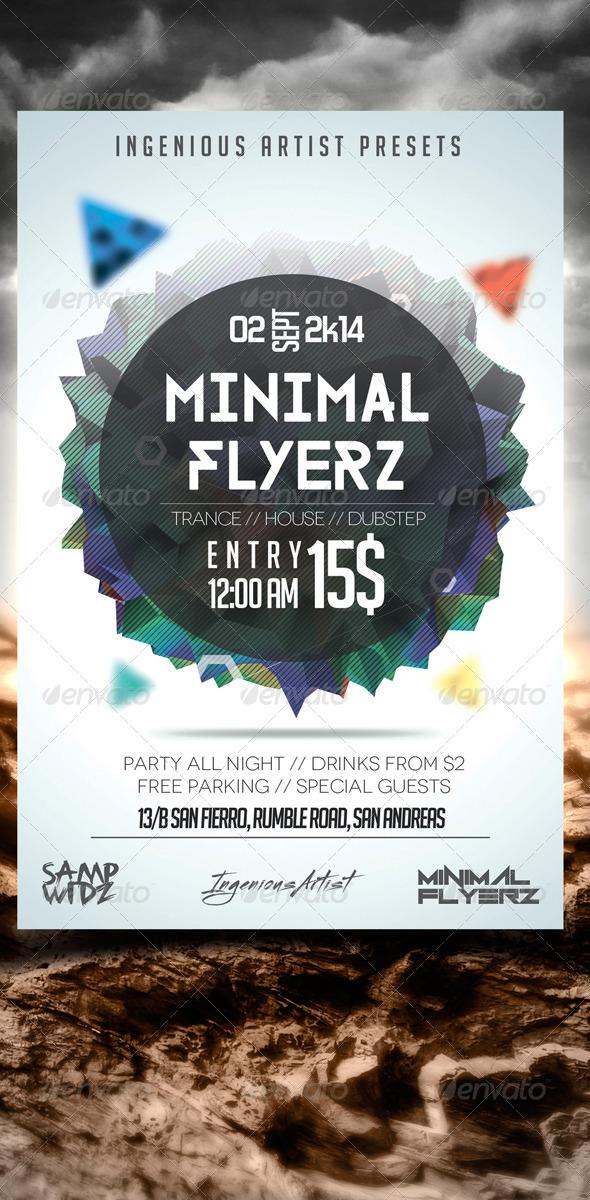 Minimal Flyer Vol.8 - Clubs & Parties Events