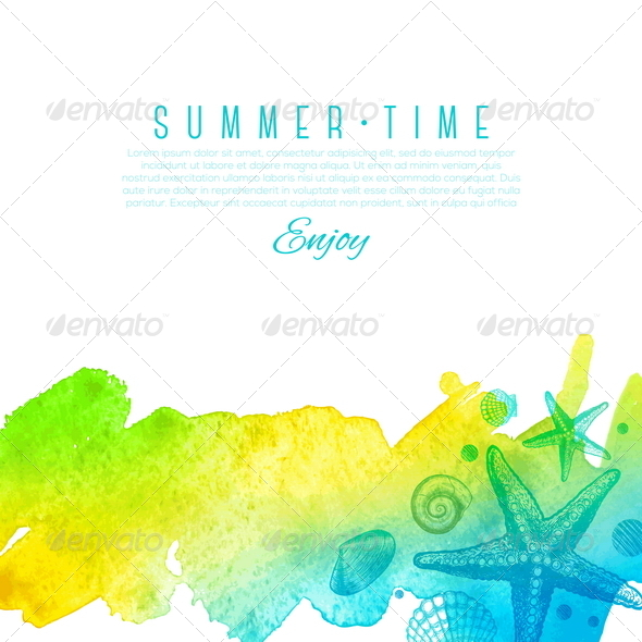 Sea Nature Summer Design - Nature Conceptual