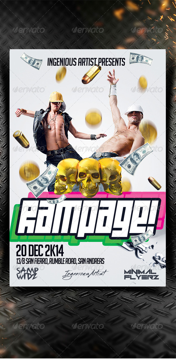 Rampage Party Flyer - Clubs & Parties Events
