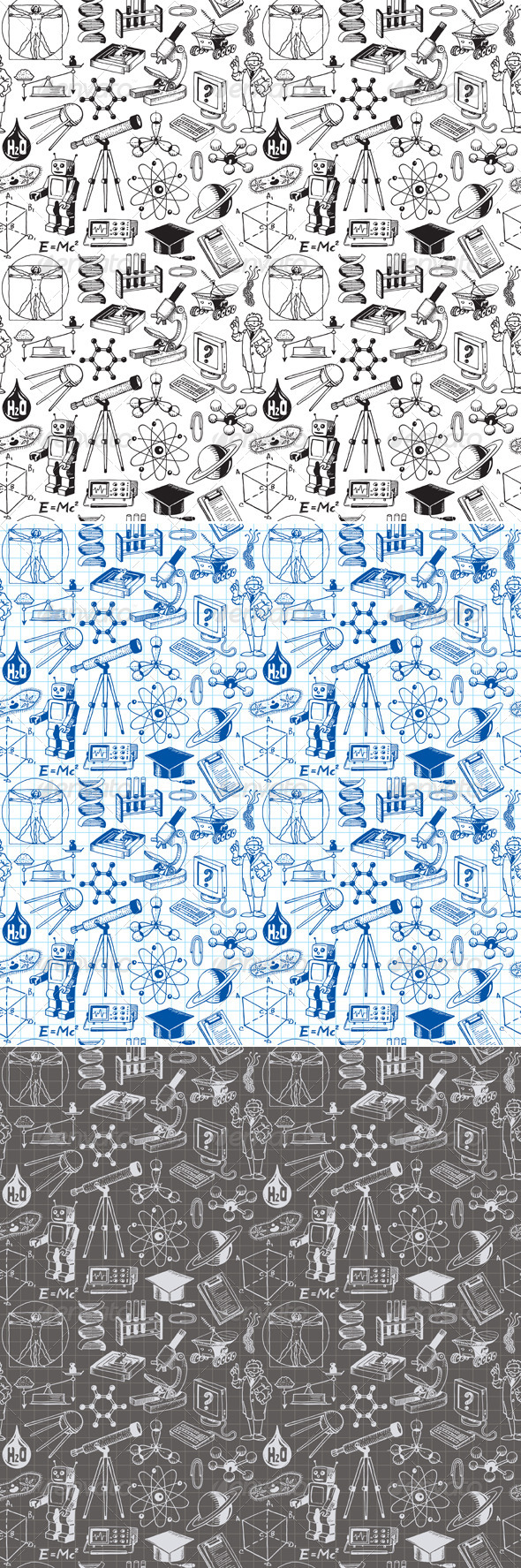 Science and Education Seamless Pattern - Patterns Decorative