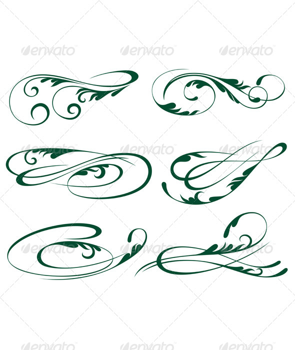 Ornaments - Flourishes / Swirls Decorative