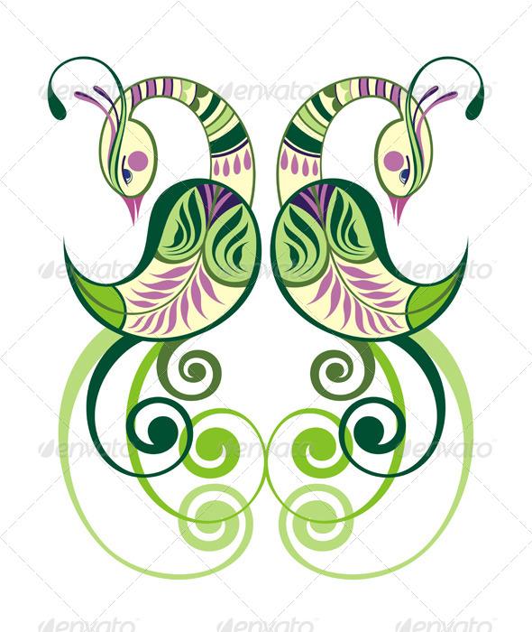 Decorative Birds - Animals Characters