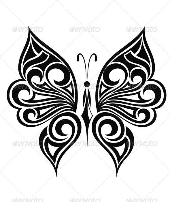 Butterfly - Tattoos Vectors