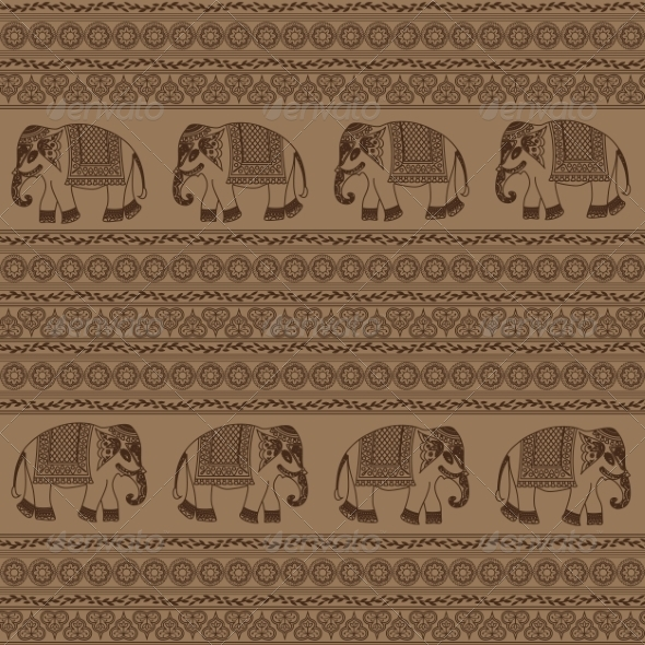 Indian Elephant - Animals Characters