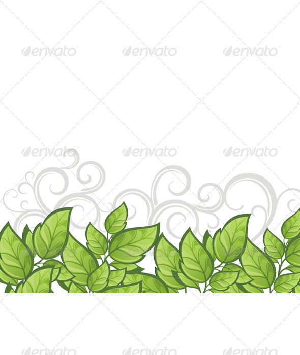 Summer Card with Green Leaves - Flowers & Plants Nature