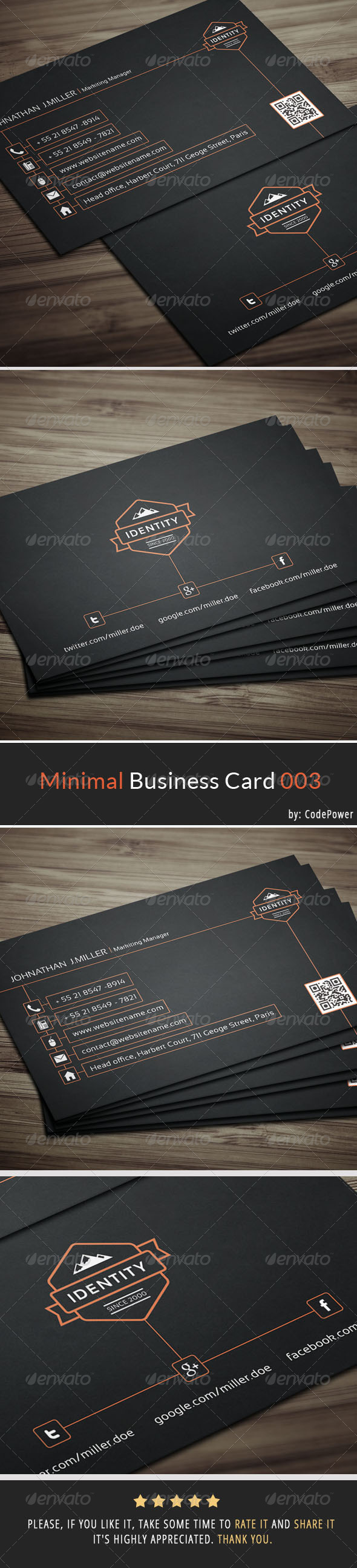 Minimal Business Card 003 - Corporate Business Cards