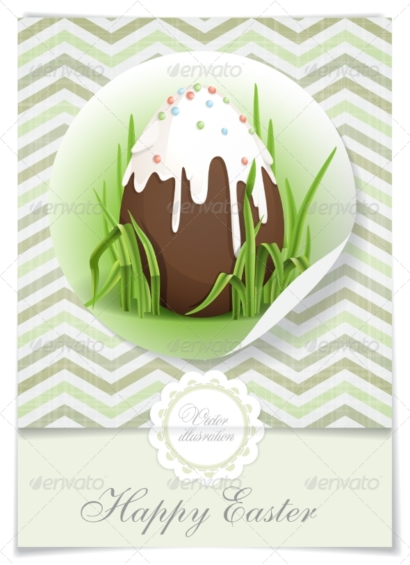 Chocolate Easter Egg. - Miscellaneous Seasons/Holidays