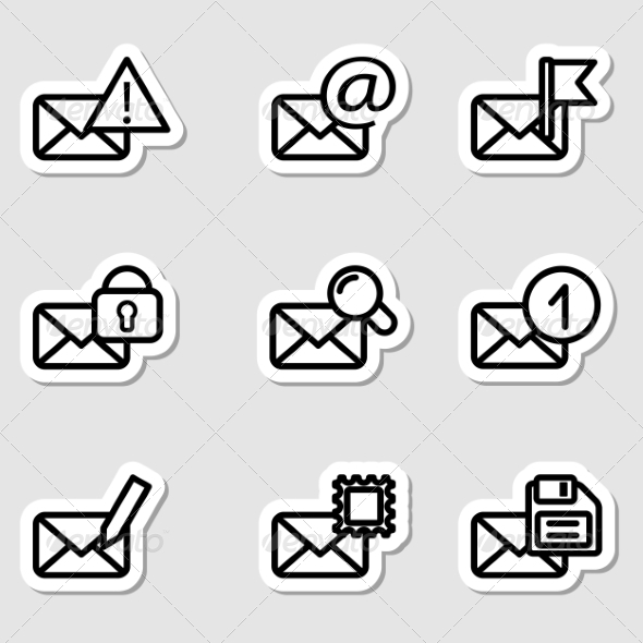 Envelopes Icons as Labels Vol2 - Business Icons