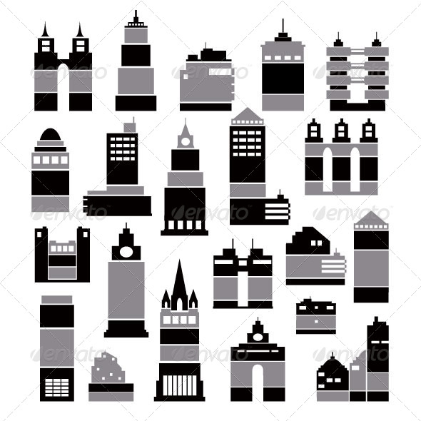 City Buildings - Buildings Objects
