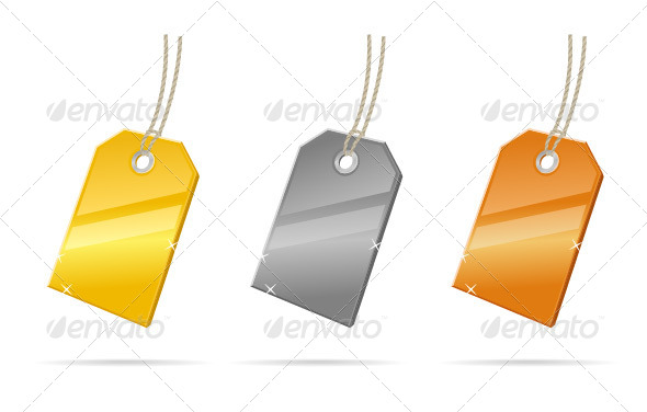 Price Tags - Objects Vectors