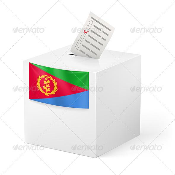 Ballot Box with Voting Paper Eritrea - Miscellaneous Vectors