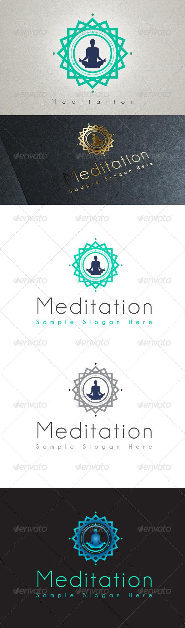 Meditation Logo - Symbols Logo Templates