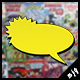 Vintage Comic Book Speech Bubbles