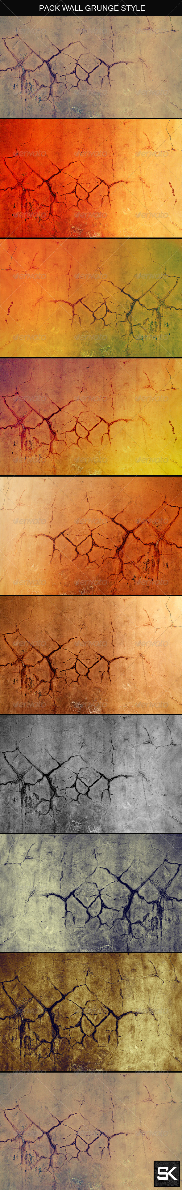 Wall Grunge Style - Concrete Textures