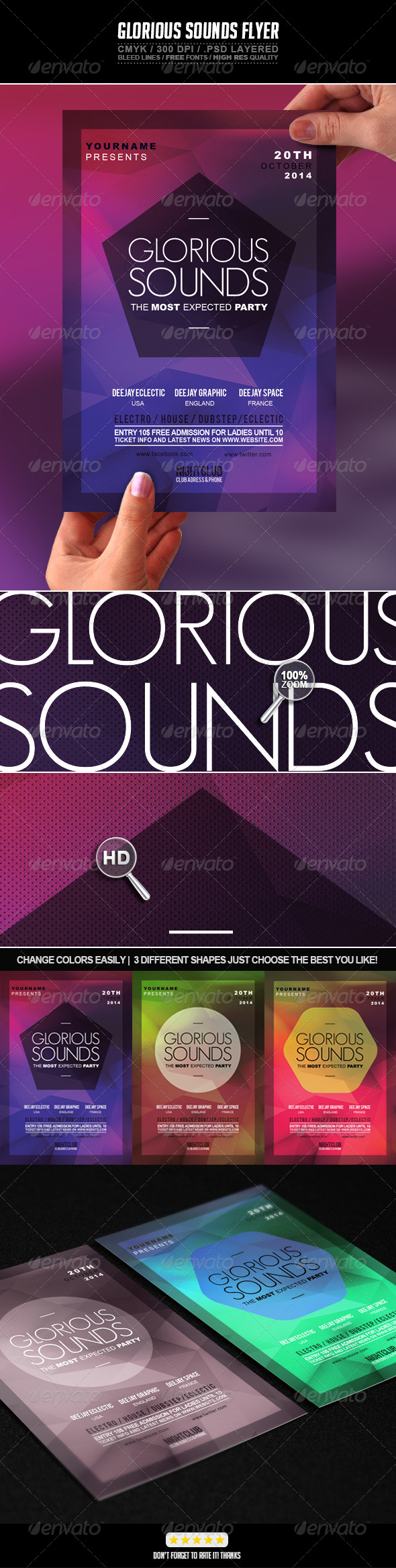 Glorious Sounds Party Flyer PSD Template - Events Flyers