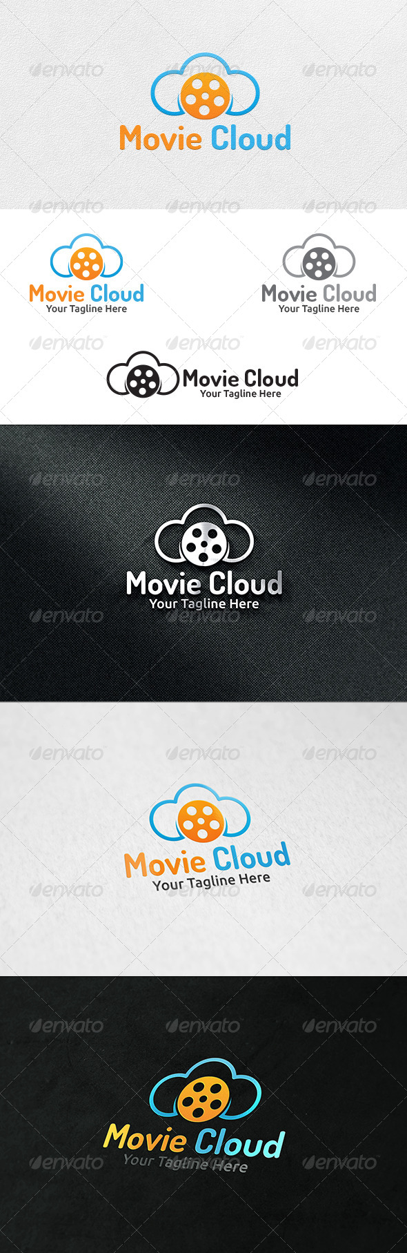 Cloud Movies - Logo Template - Symbols Logo Templates