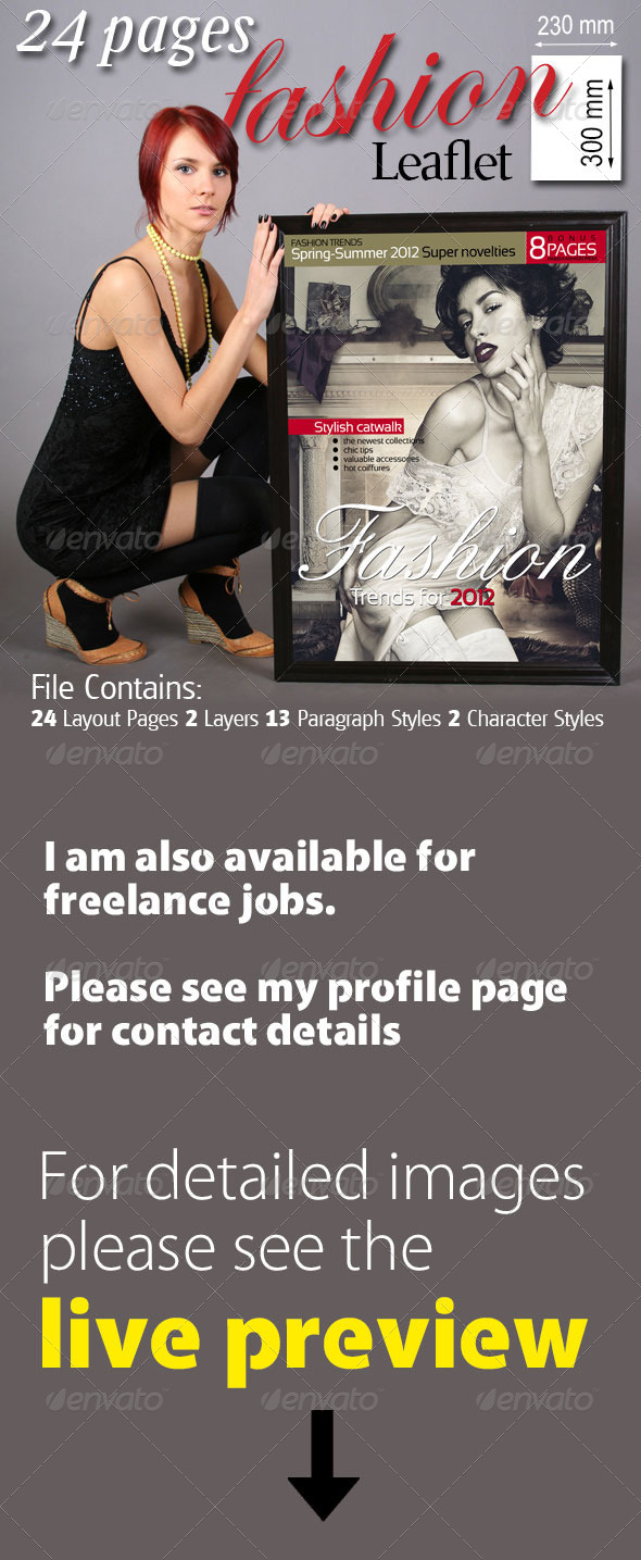 24 Pages Fashion Leaflet - Magazines Print Templates