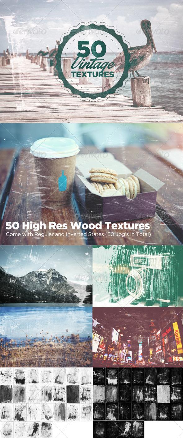 50 Vintage Grain Textures - Art Textures
